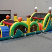 3 lane sports theme obstacle course