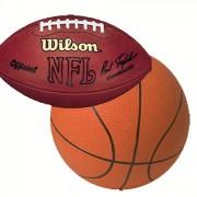 Pop-a-shot basketball and football