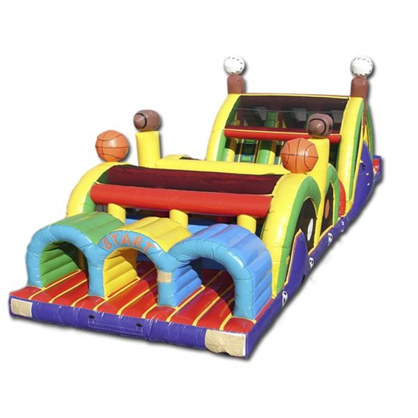 3 lanes sports theme obstacle course
