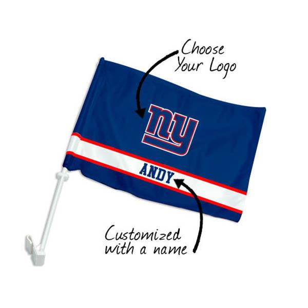 Football Team & Name Car Flags