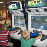 JD and Jack playing Artic Thunder