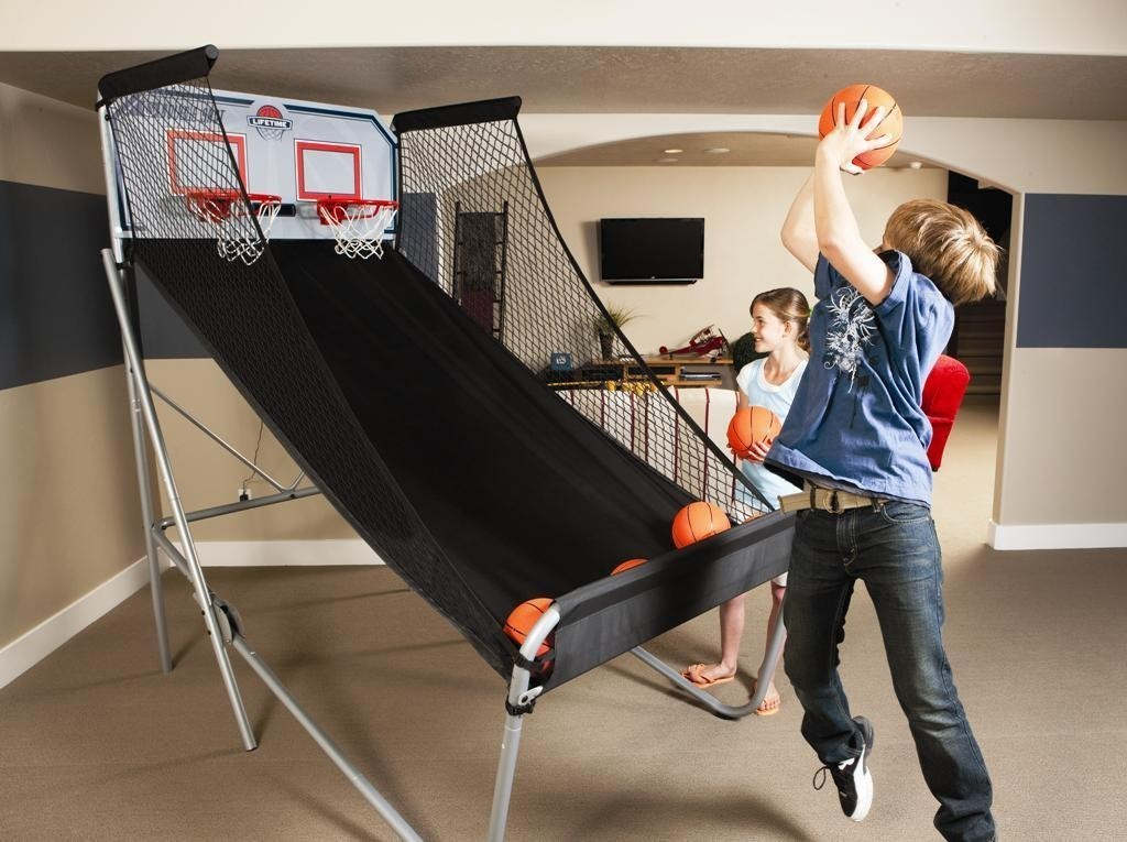 Pop A Shot Basketball And Football Sport Party Rental