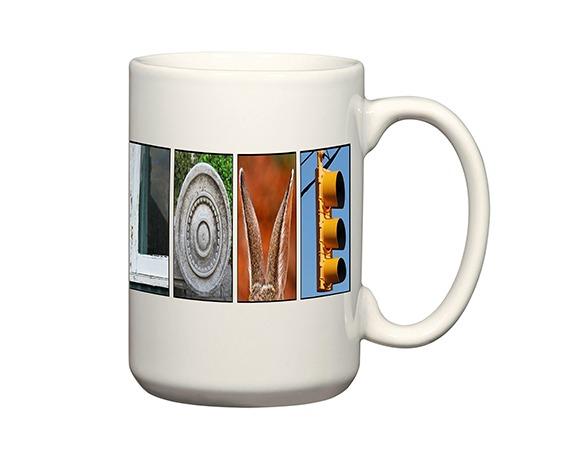 Custom mugs & alphabet art