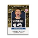 Baseball card personalized
