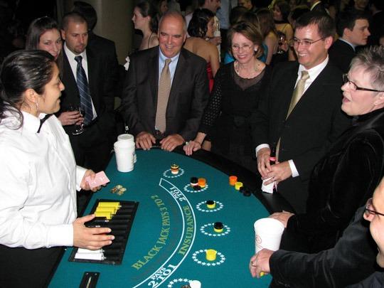 black jack table rentals