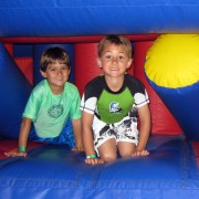 boys on obstacle course