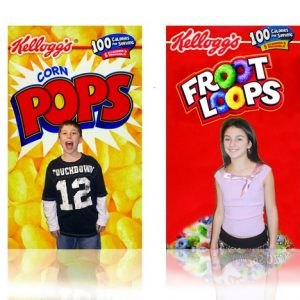 impose pictures on candy boxes
