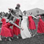 wedding color blast photos