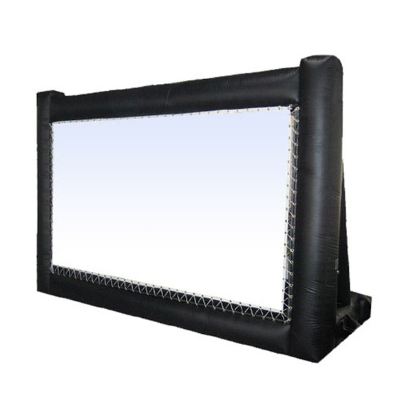 Inflatable drive in screen