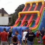 24ft dual lane slide