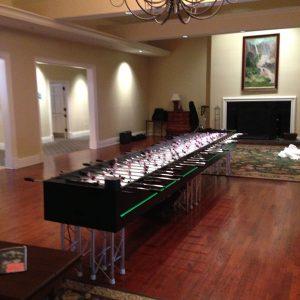 16 player led foosball table rental
