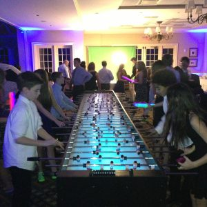 16 player led foosball table