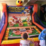 inflatable game chucklin chicken