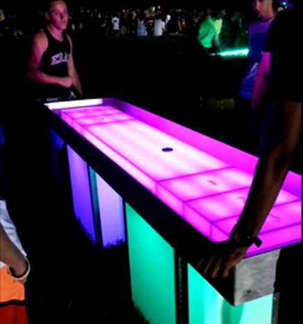 Led Shuffleboard Rental Game Tables Ny Party Works