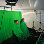 Green screen portraits