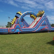 The wild one inflatable course