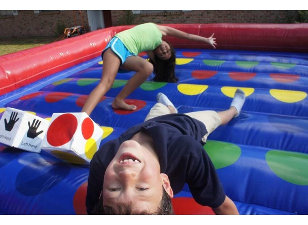 Giant carnival twister game