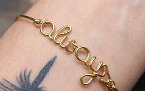wire name bracelets