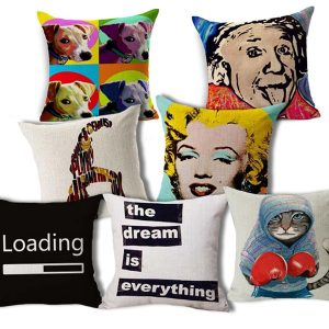 Pillows of MeMe's from NY Party Works