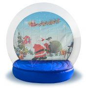 Inflatable Snow Globe in NY