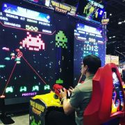Space Invader Frenzy Arcade Game with NY Party Works