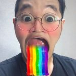 Snap chat rainbow filter