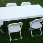 tabels and chair for rent