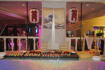 candy sushi buffet