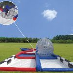 Inflatable ball run