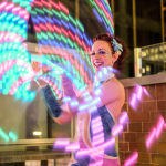Circus light performer