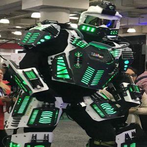 Green Robot Performer