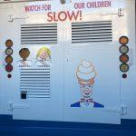 Back of ice cream truck