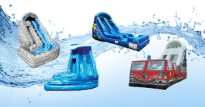 Inflatable water slide options.