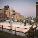 Holiday Skating Rink and lights
