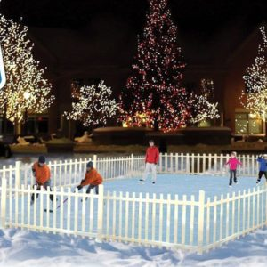 Portable ice rink rental