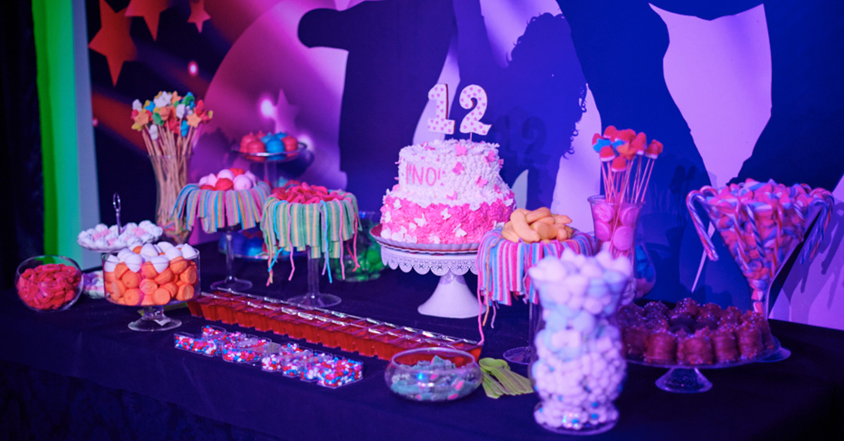 Cake, candies, and more for a Bar or Bat Mitzvah.