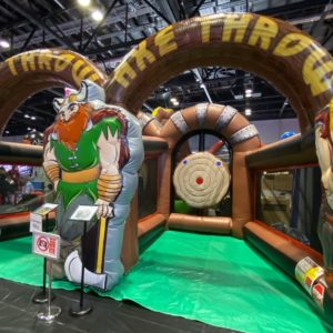 Viking inflatable axe throw
