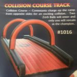 Inflatable collision course track