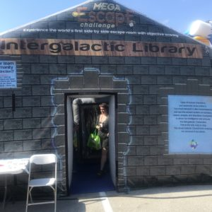 Intergalactic library inflatable escape room