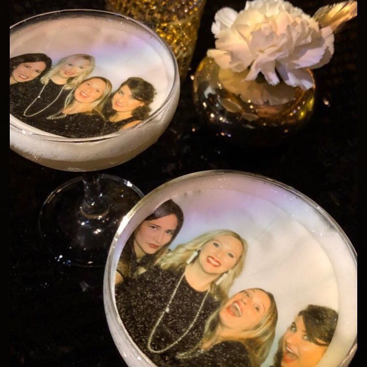Photo printed on top of drink