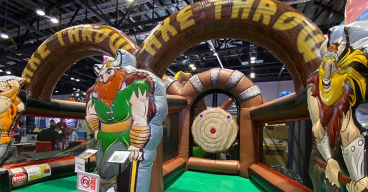 Inflatable Viking Axe Throw rental